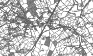 Old Map of Barnt Green, 1883