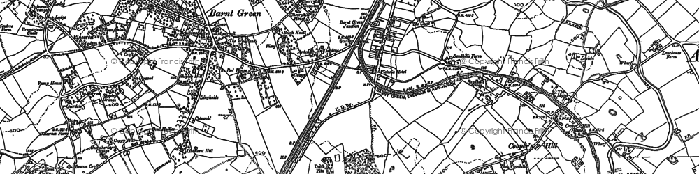 Old map of Barnt Green in 1883