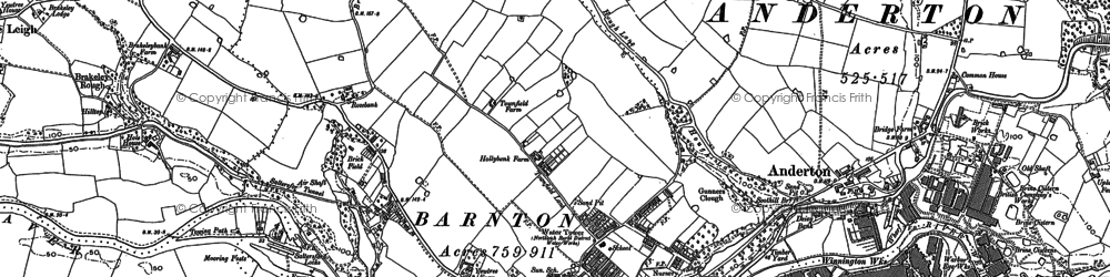 Old map of Barnton in 1897
