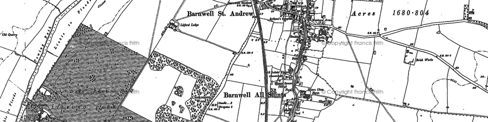 Old map of Barnwell in 1899