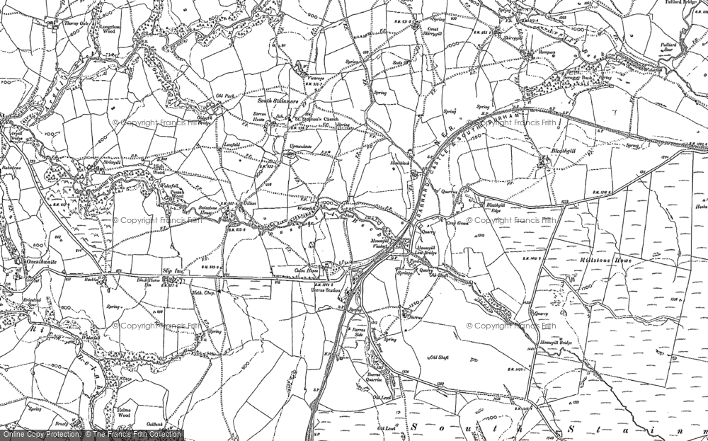 Old Map of Historic Map covering Woofergill in 1913