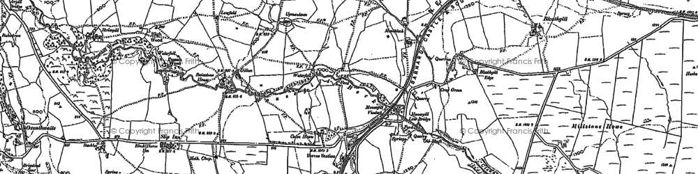 Old map of Woofergill in 1913