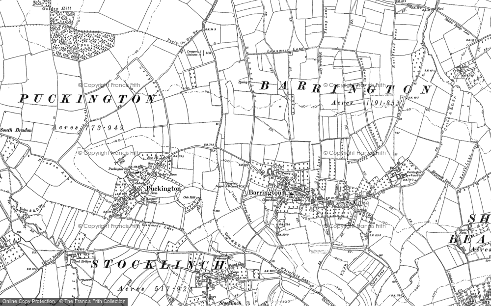Old Map of Barrington, 1886 in 1886