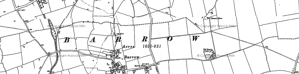 Old map of Barrow in 1884