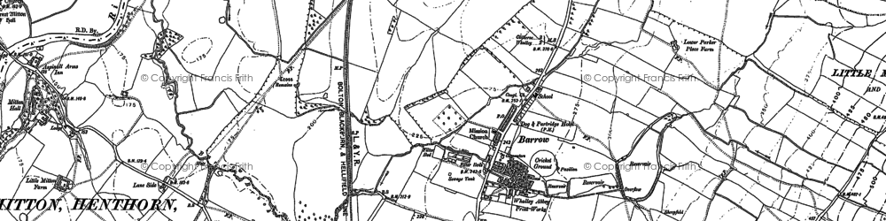Old map of Barrow in 1892