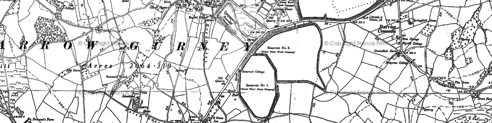 Old map of Barrow Gurney in 1883