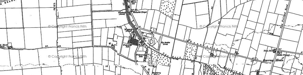 Old map of Barrow Haven in 1886