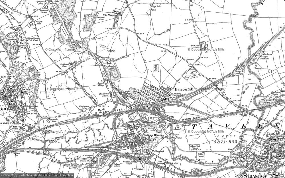 Map of Barrow Hill, 1876