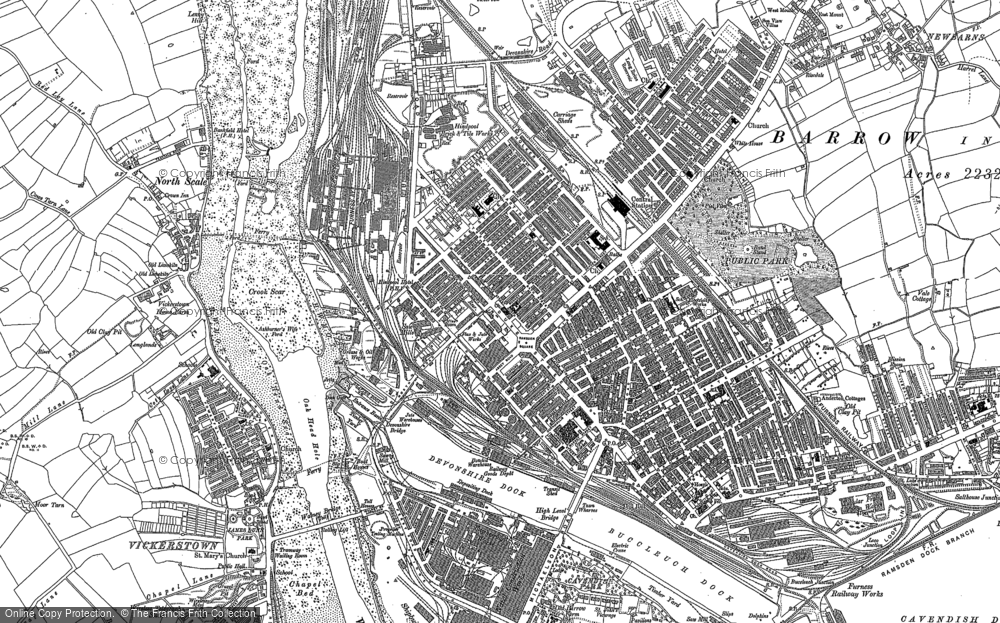Map of Barrow-In-Furness, 1931