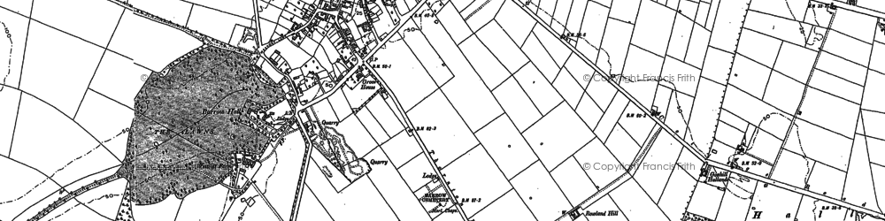 Old map of Barrow upon Humber in 1886