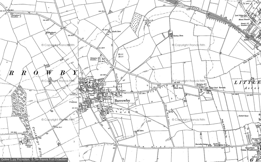 Map of Barrowby, 1886 - 1903