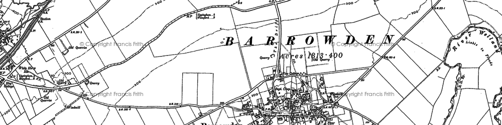 Old map of Barrowden in 1899