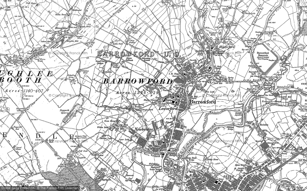Old Map of Barrowford, 1891 - 1910 in 1891