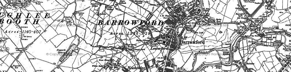 Old map of Barrowford in 1891