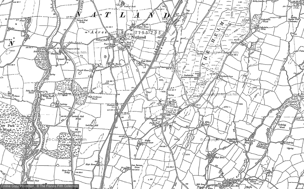 Old Map of Historic Map covering Larkrigg in 1896
