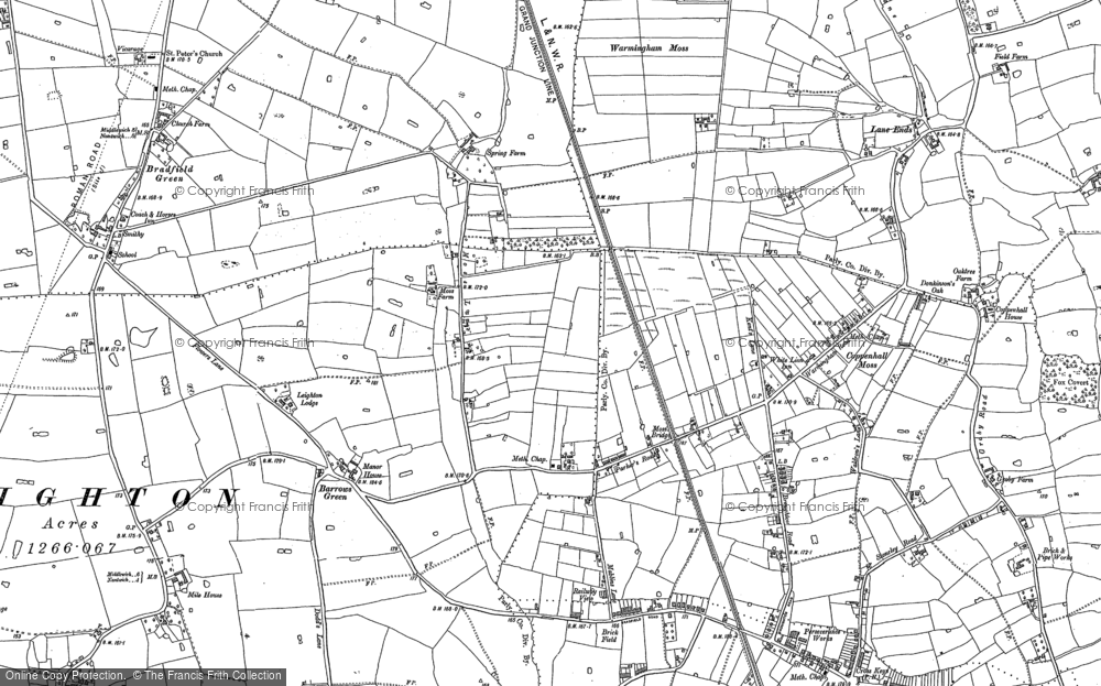 Old Map of Historic Map covering Leighton Lodge in 1897