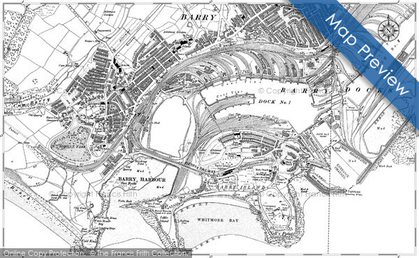 Old Maps of Barry Island Francis Frith