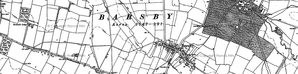Old map of Barsby in 1884