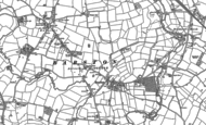 Old Map of Barston, 1886