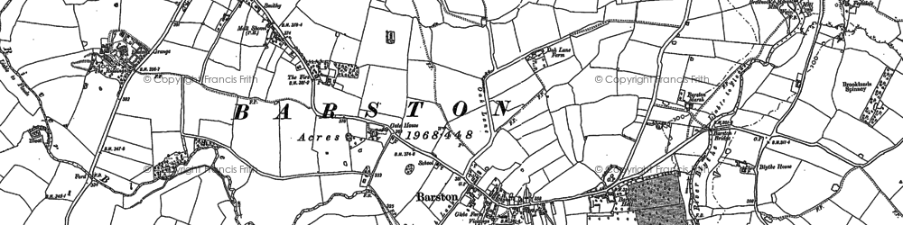 Old map of Wharley Hall in 1886