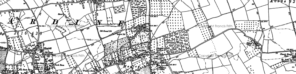Old map of Wilcroft in 1886