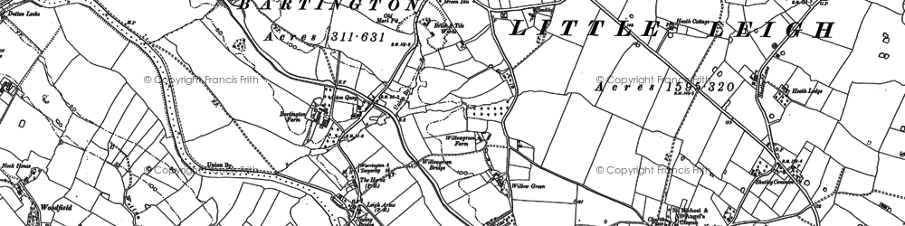 Old map of Willow Green in 1879