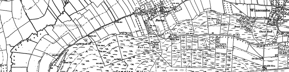 Old map of Barton in 1884