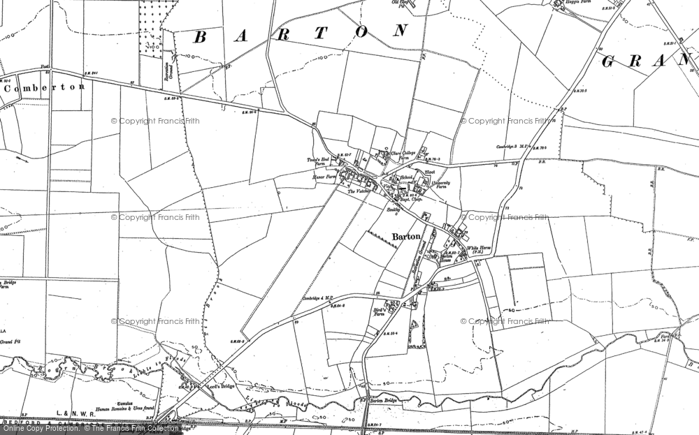 Old Map of Barton, 1885 - 1901 in 1885