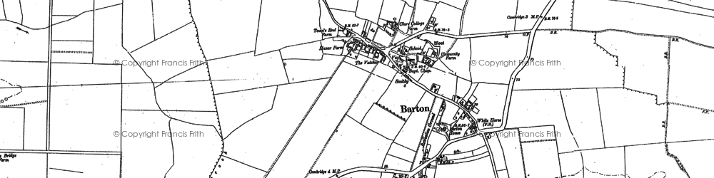 Old map of Tit Brook in 1885