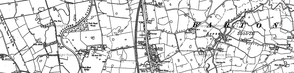 Old map of Yew Tree in 1892
