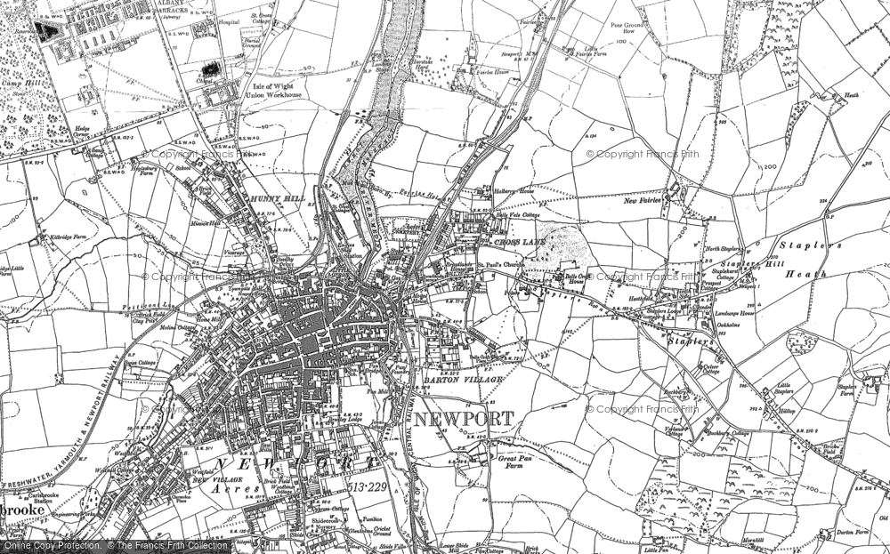 Old Map of Barton, 1896 in 1896