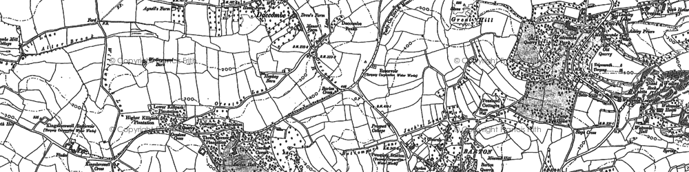 Old map of Barton in 1904