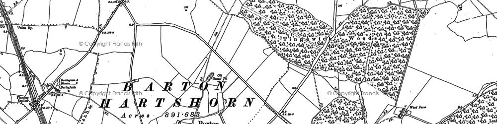 Old map of Barton Hartshorn in 1898