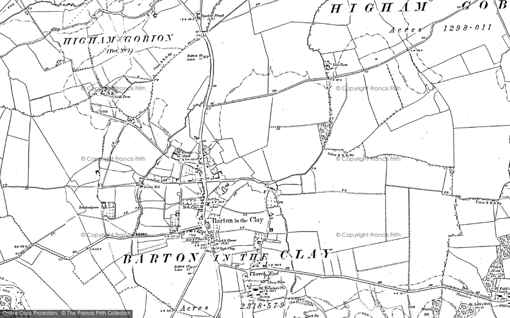 Old Map of Barton-le-Clay, 1882 - 1899 in 1882