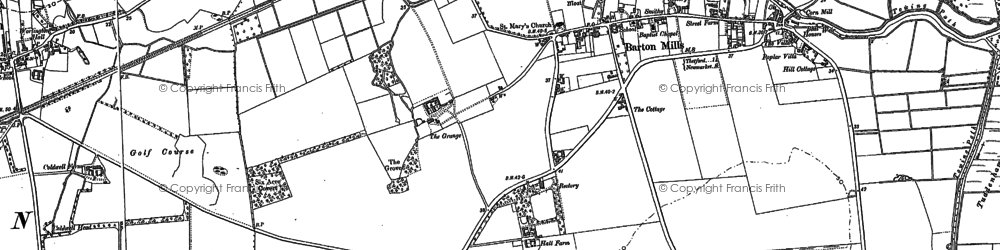 Old map of Barton Mills in 1882