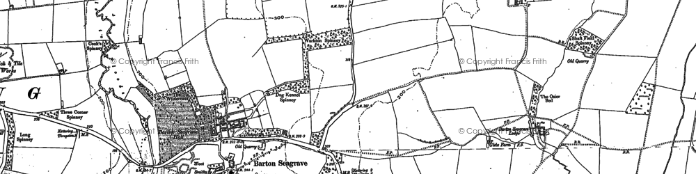 Old map of Barton Seagrave in 1884