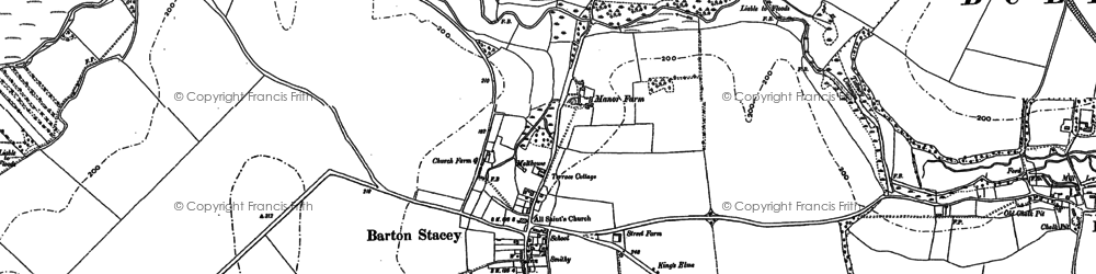 Old map of Tidbury Common in 1894