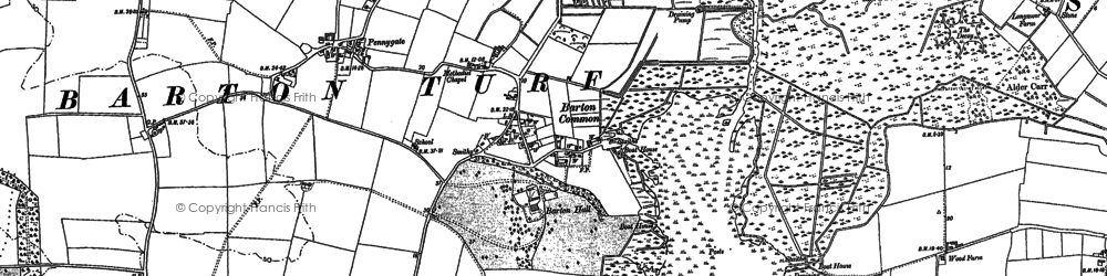 Old map of Barton Turf in 1884