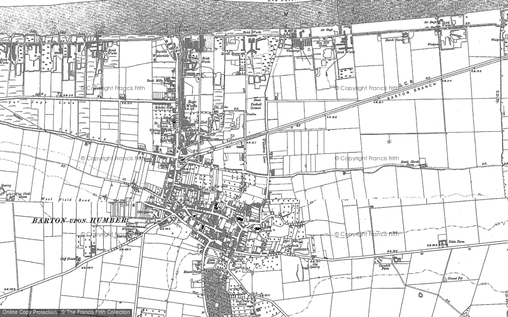 Old Map of Barton-Upon-Humber, 1886 in 1886
