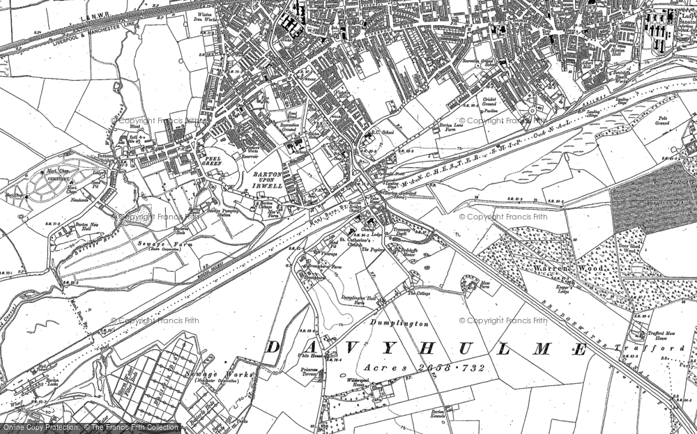 Old Map of Barton Upon Irwell, 1889 - 1894 in 1889