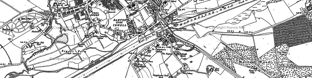 Old map of Barton Upon Irwell in 1889