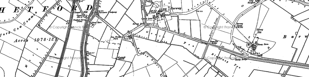 Old map of Barway in 1886