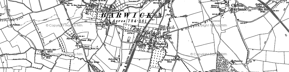 Old map of Barwick in 1901