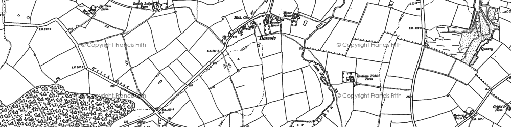 Old map of Bascote in 1885
