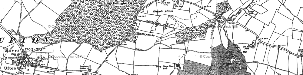 Old map of Bascote Heath in 1885