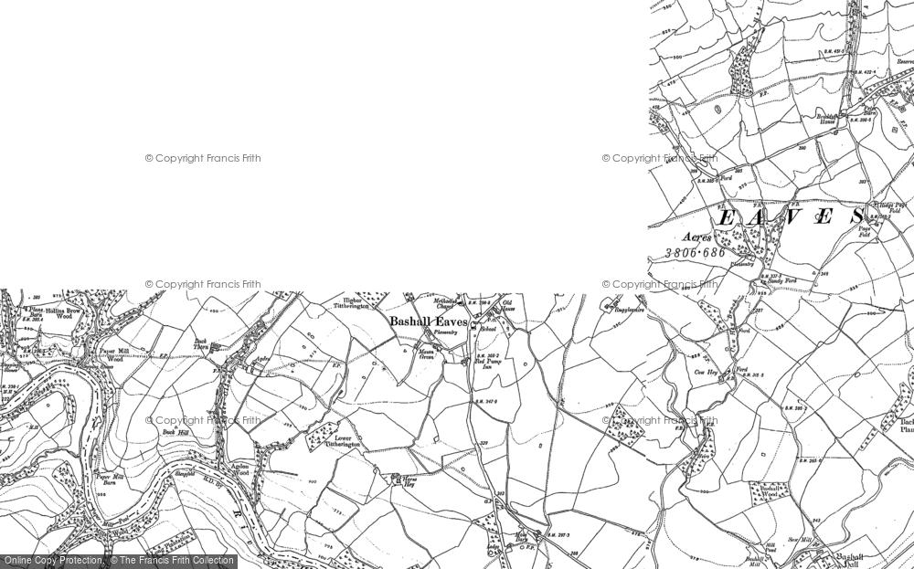 Map of Bashall Eaves, 1907