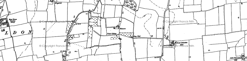 Old map of Basildon in 1895