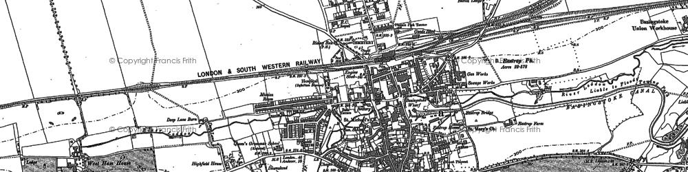 Old map of Basingstoke in 1894