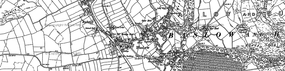 Old map of Nether End in 1878