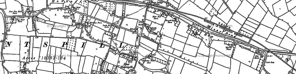 Old map of Bason Bridge in 1884